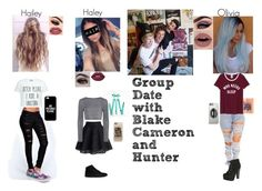 """group date with blake cameron and hunter"" by oliviamakeup23 on Polyvore featuring Chicwish, Lipsy, Boohoo, Casetify, Vans, Breckelle's, Lime Crime and Smashbox"