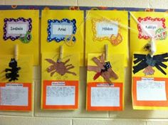 My kiddos tore paper to make models of the spider they researched.  LOVE how they came out!