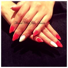 Red pointy nails @ Anoush Nails