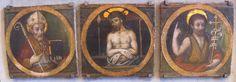 Scuola umbra - Agostino, Cristo in pietà e Giovanni Battista - inizio del XV sec. - Lindenau-Museum Altenburg