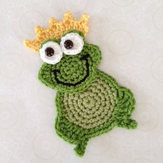 PDF Frog Crochet PATTERN Prince Charming by ShirleyGoodness2U, $3.50