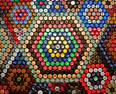 forget me not [smile]: bottle cap coffee table