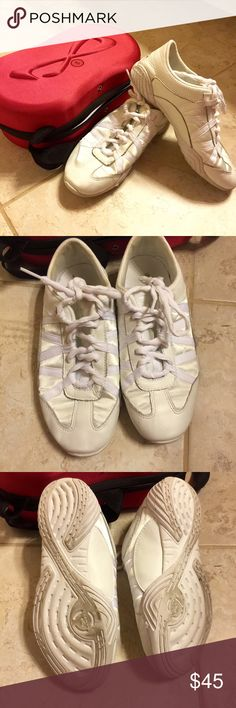 Nfinity Cheer shoes almost like new! These cheer shoes are amazing wore them for only two or three practices so they aren't formed to my feet! Shoes Athletic Shoes