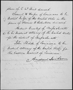 Message of President Andrew Jackson nominating his cabinet, 03/06/1829 (page 2 of 2) by The U.S. National Archives, via Flickr