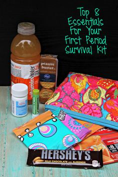 8 essentials for your first period survival kit school survival kits, survival tips, survival School Survival Kits, Survival Supplies, Survival Tips, Survival Skills, Survival Stuff, First Period Kits, Period Hacks, Period Tips, Period Party