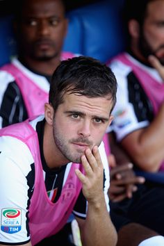 Miralem Pjanic of Juventus FC looks on during the Serie A match between SS Lazio…