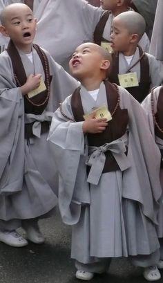 Young Korean Monks by Paula Kim