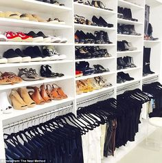A clever storage solution for one customer's considerable clothes and shoe collection