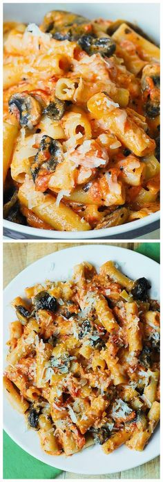 Penne Pasta in Creamy Vodka Tomato Sauce with Mushrooms - A delicious Italian recipe and for a tasty cup of coffee or some organic green tea, visit me here... http://cousins3.myorganogold.com