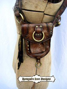 砂漠パンクユーティリティユニセックスバーニングマン祭バッグ肩のホルスターのホルスター バッグ革: by Renegadeicon