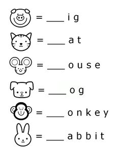 Free/Printable Word Beginnings Letter Literacy Worksheet for Preschool.