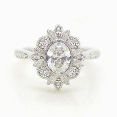 Custom Wedding Rings, Wedding Rings Vintage, Diamond Wedding Rings, Bridal Rings, Vintage Engagement Rings, Diamond Engagement Rings, Wedding Jewelry, Oval Engagement, Diamond Rings