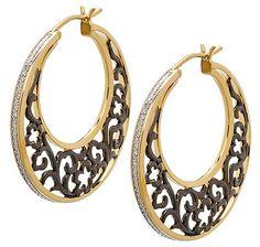 Eva LaRue Jewellery - - Online Shopping for Canadians Eva Larue, Diamond Hoop Earrings, Black Rhodium, Sterling Silver Jewelry, Crochet Earrings, Unique Jewelry, Gold, Plate, Profile
