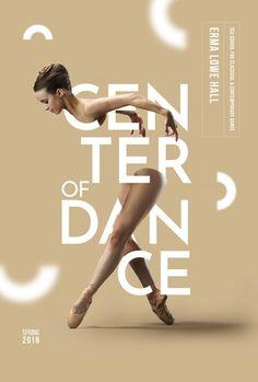 dance poster design Center of Dance - Graphis - posterdesign Web Design, Graphic Design Trends, Graphic Design Posters, Graphic Design Inspiration, Ballet Posters, Dance Posters, Dance Logo, Plakat Design, Design Typography