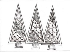 tree zentangles by kristin.small