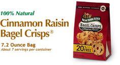 New York Style Cinnamon Raisin Bagel Crisps - I am hooked on these!