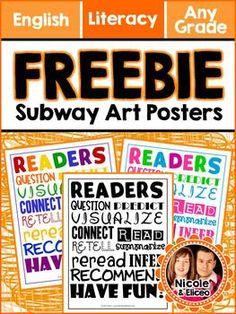 FOLLOWER FREEBIE - Subway Art Mini-Poster for Reading :)