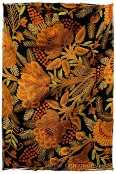 (via The Embroidery of a Fall Shawl | Falling | Pinterest)   Found on kashmirseasons.com