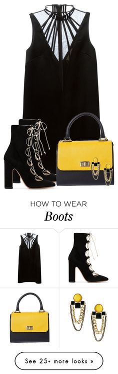 """Untitled #969"" by dida-zalesakova on Polyvore featuring Christopher Kane and Valentino"