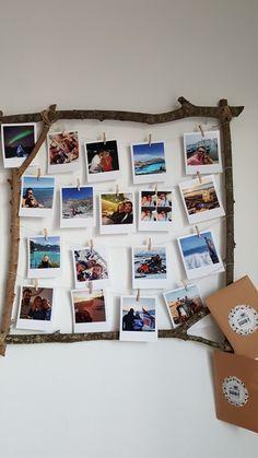 Pêle mêle photos Cadre en bois