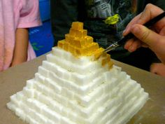 My 2nd graders are learning about Ancient Egypt. They built a pyramid out of sugar cubes.