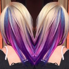 Makeup, Beauty, Hair & Skin | Trick Your Conservative Office With This Underlights Rainbow Hair Trend | POPSUGAR Beauty
