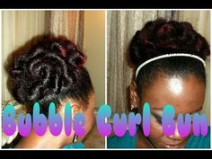 For those transitioning or in the in-between stage    More resources shared on Twitter @naturalladylics  ☆ 66  ☆ Natural Hair | Bubble Curl Bun (Protective Style)