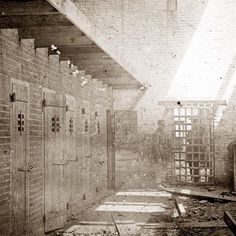 Alexandria, Virginia. Slave pen. Interior view. It was taken between 1861 and 1865. How awful.