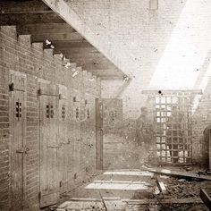 Alexandria, Virginia. Slave pen. Interior view. Taken between 1861 and 1865.
