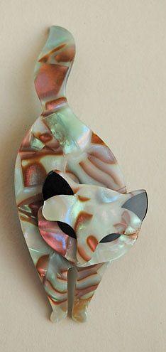 Lea Stein Cats #11 Brooch