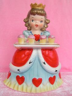 Vintage Napco Queen of Hearts Planter...TALL Size by KittyKatDance