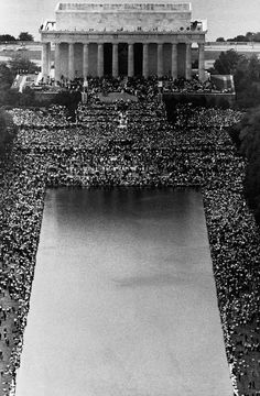 Dr. Martin Luther King, Jr. gives his 'I Have A Dream' speech at the March on Washington, August 28, 1963.