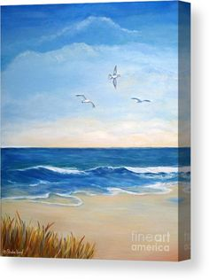 Seascape Paintings, Landscape Paintings, Landscapes To Paint, Watercolor Landscape, Watercolor Art, Beach Scene Painting, Beach Art, Beach Canvas Art, Beach Canvas Paintings