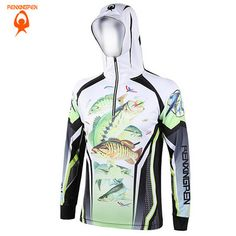 2017 Men/Women Hiking climbing Anti-UV Breathable/Quick-drying Professional Clothes Digital Printing Fishing Sweatshirts S-5XL