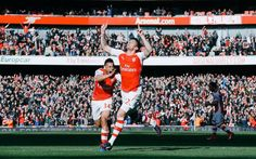 Giroud celebrating his goal against EFC. Arsenal 2-0!much needed 3 points.