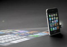 iPhone projector.