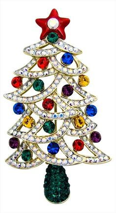 Christmas tree brooch by Butler & Wilson | AnOther Loves