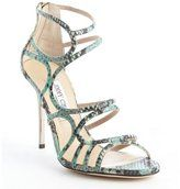 jimmy choo blackand seafoam green embossed leather sazerac pumps