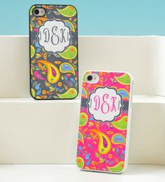 Paisley Print Personalized iPhone Case. I love this pattern it's so cute. I'm getting these for my bridesmaids. - Click image to find more Weddings Pinterest pins