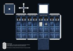 11th Doctor's TARDIS Paper Craft by Sidhenidon.deviantart.com on @deviantART