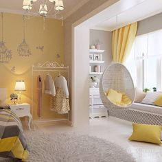 ideas colourful ideas girl room ideas with balloons decor ideas for stairs ideas in bedroom ideas home decor ideas ideas room girl Small Room Bedroom, Small Rooms, Home Bedroom, Girls Bedroom, Bedroom Decor, Bedroom Ideas, Bedrooms, Bedroom Yellow, Yellow Walls