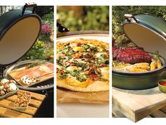 The Big Green Egg. Use it as a grill, an oven, and a smoker!