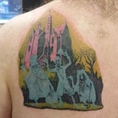 Cover art from the Haunted Mansion poster.   41 Disney Tattoos That'll Make You Want To Get Inked