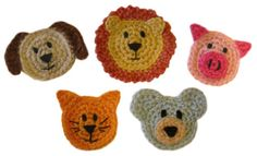 Crochet Spot » Blog Archive » Crochet Pattern: Animal Appliques - Crochet Patterns, Tutorials and News