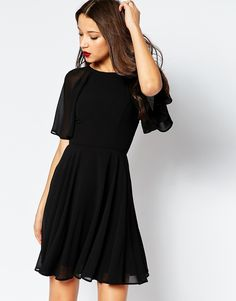 Image 2 of ASOS TALL Lace Up Back Caftan Mini Dress