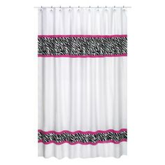 "This is the curtain I think I am going to put in the girls bath.  It has everything I want without being ""too much"".  I wanted to have a Zebra print with hot pink accents and go with black, white and pink decor without getting too busy or bold and this seems like a good compromise as a whole Hot pink curtain or a whole zebra curtain may be unsettling in our small bathroom."