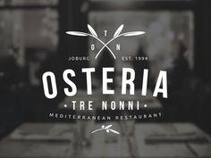 Osteria Tre Nonni - Logo Design by Angus Ewing by Angus Ewing, via Behance