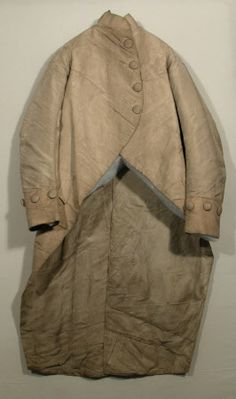 Coat National Trust Inventory Number 1348794 Date1790 MaterialsCanvas, Linen, Silk CollectionSnowshill Wade Costume Collection, Gloucestershire (Accredited Museum)