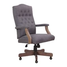 Boss Driftwood High-back Executive Swivel Chair - Free Shipping Today - Overstock.com - 18891130 - Mobile