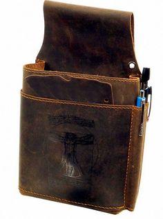 """""""Vintage Look"""" Echtleder Kellnertasche 13cm Kellnerholster Braun Apropos"""